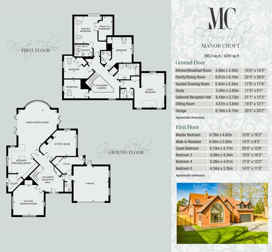 Manor Croft floorplans