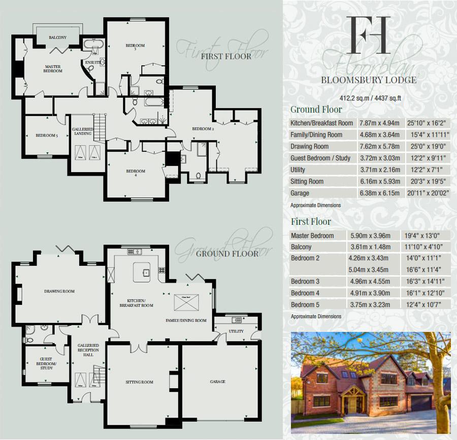 Bloomsbury Lodge floorplans